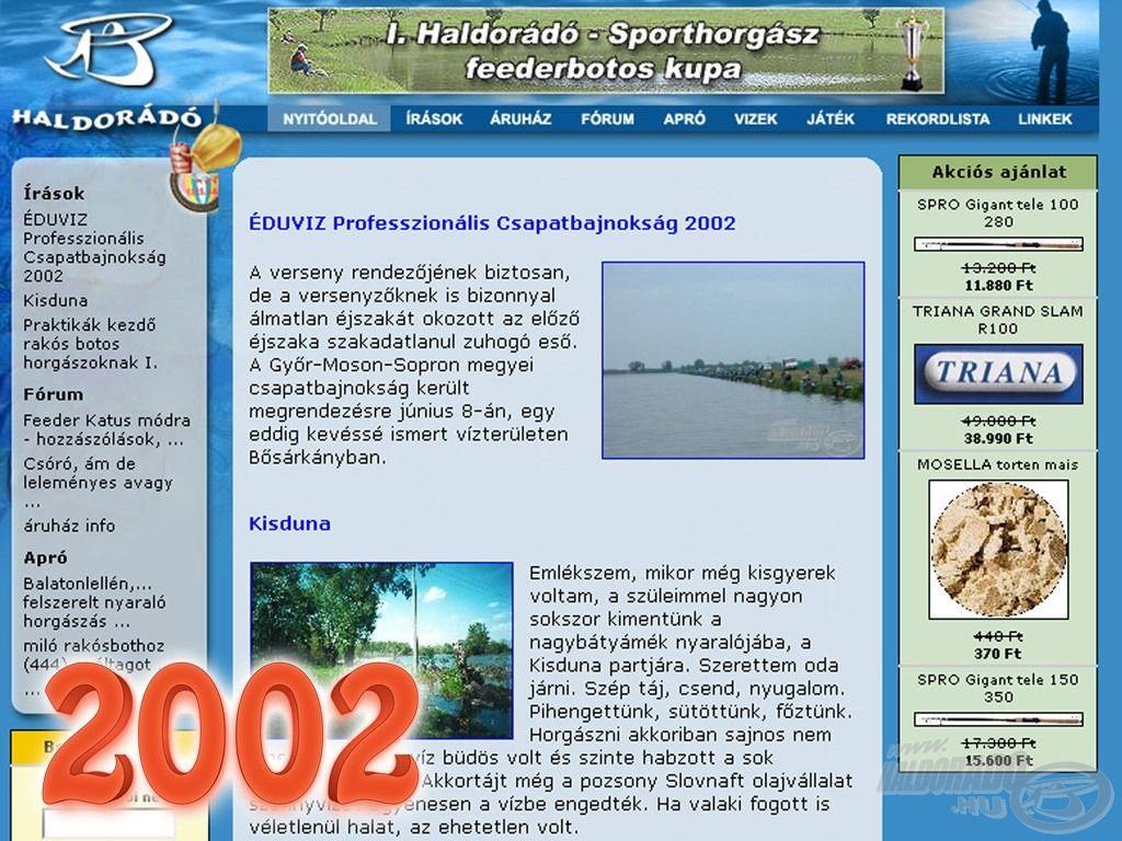 """2002. március 3-án indult el a """"kék oldal"""", azaz Haldorádó Horgászportál!"""