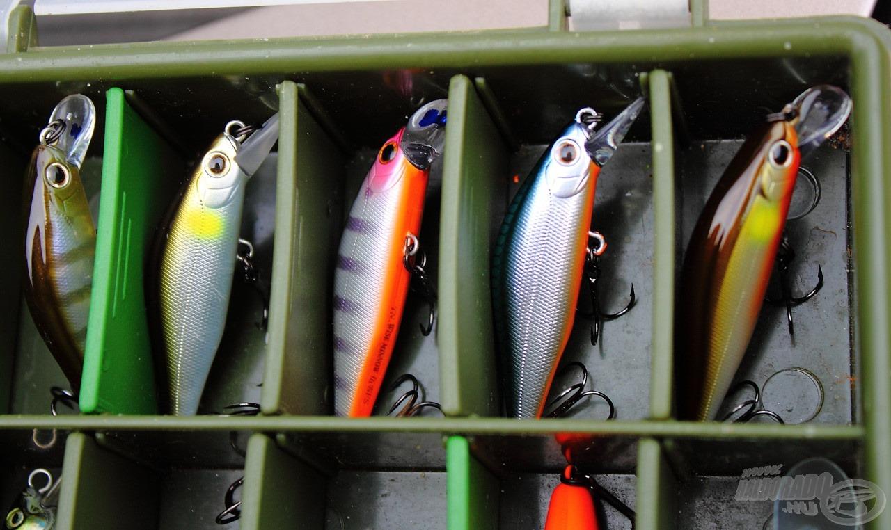 A Daiwa Wise Minnow nálam fő helyen van a dobozban, elsőként tuti ezt veszem kézbe, ha balin a célhal