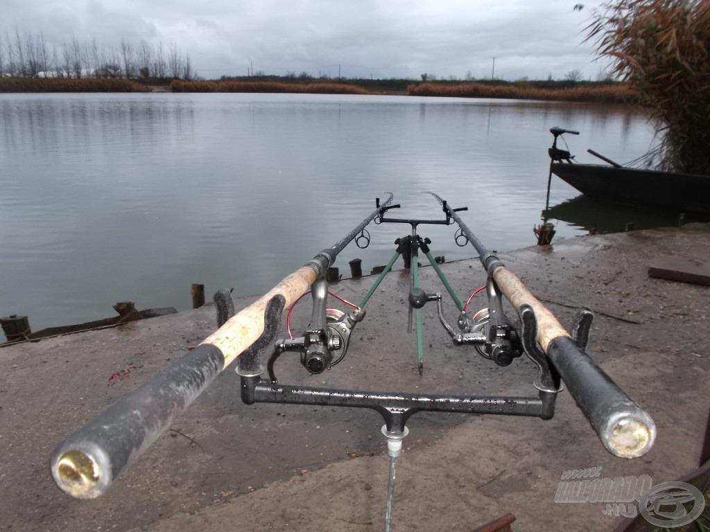 Minden a helyén, jöhetnek a halak… de sajnos az eső is rákezdte újból
