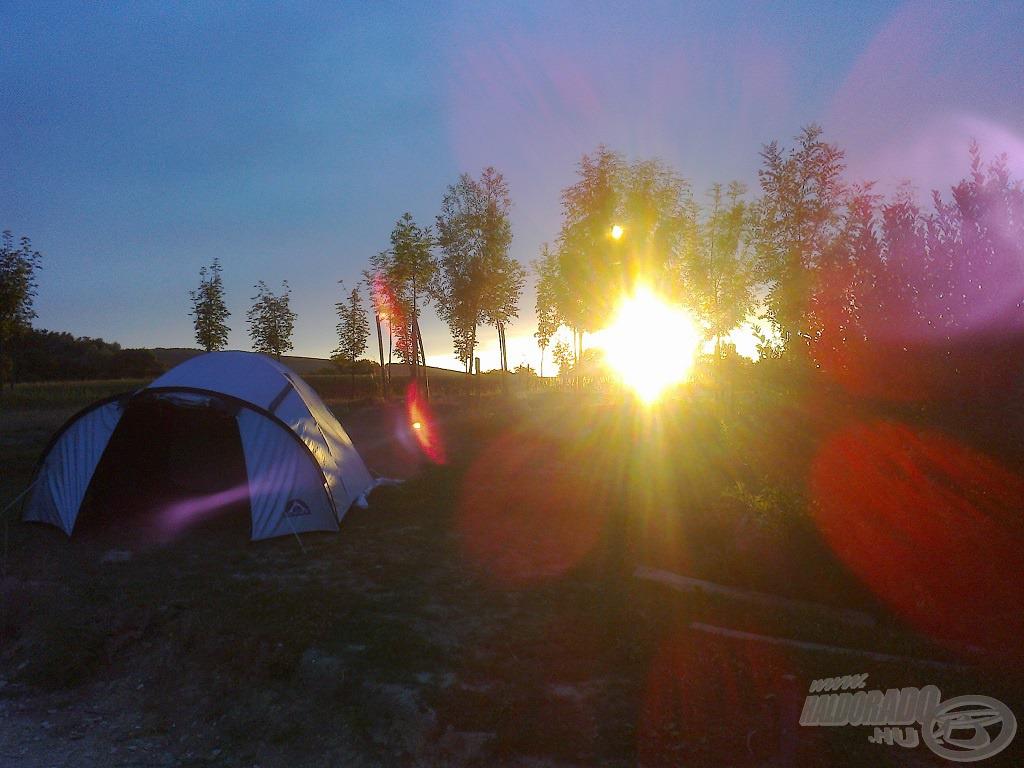 A táborhely