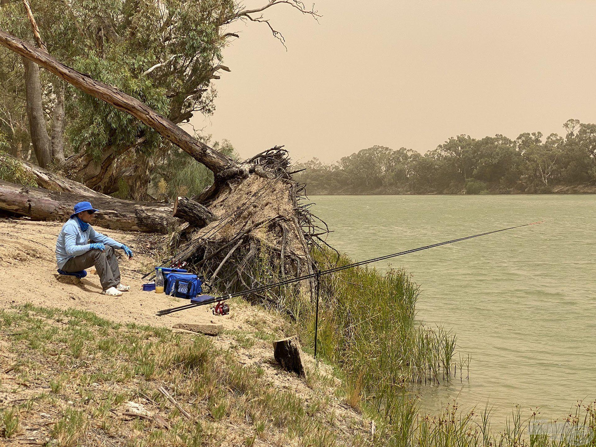Az első napi horgászhelyem