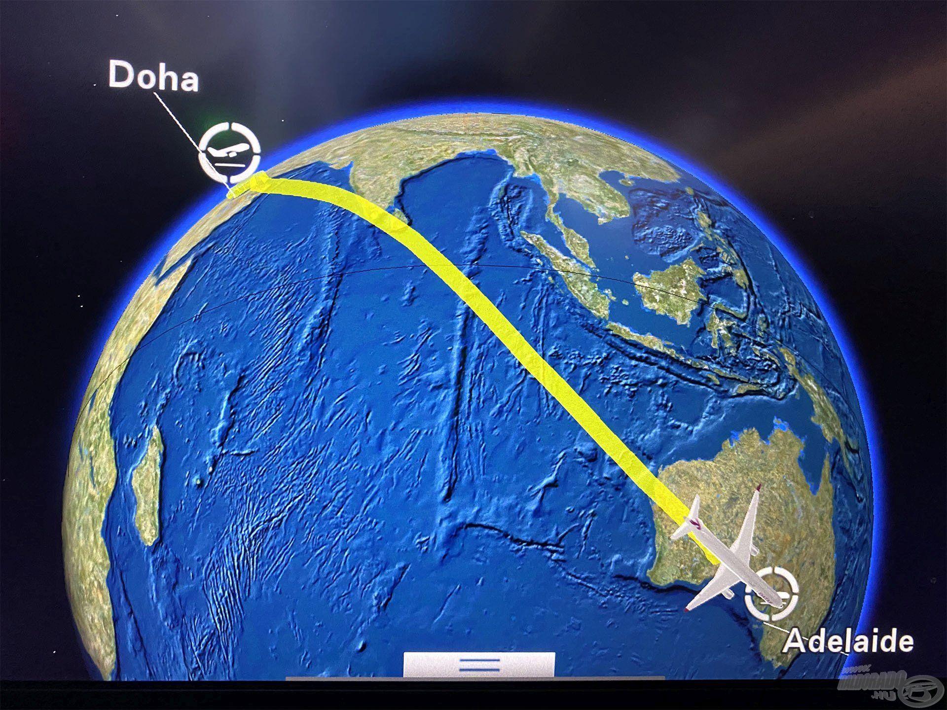 Hosszú út vezetett idáig. Budapestről Dohába, majd onnan Adelaide-be repültünk