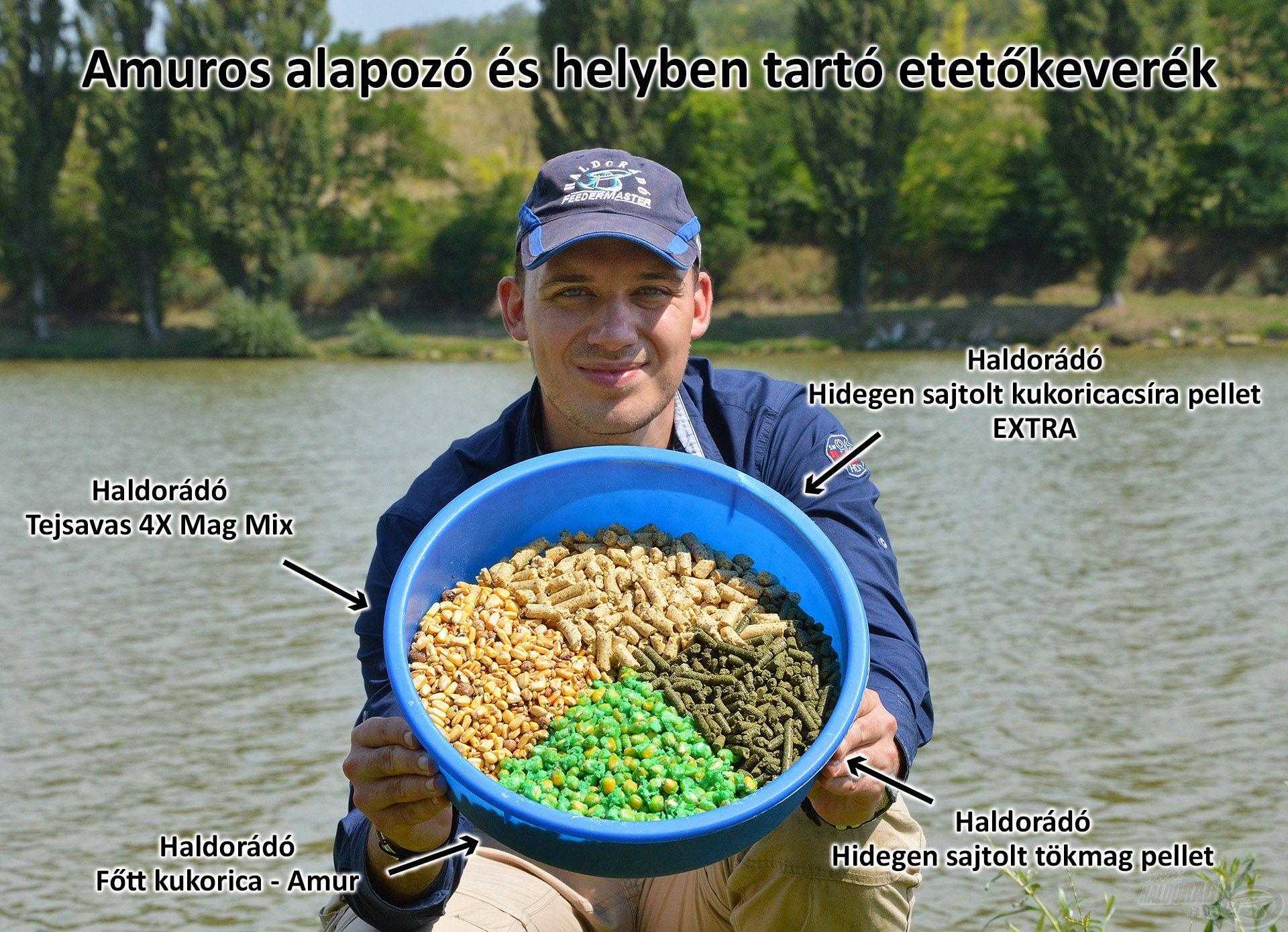 Hatékony amuros csalogatóanyagok alapozó és helyben tartó etetéshez