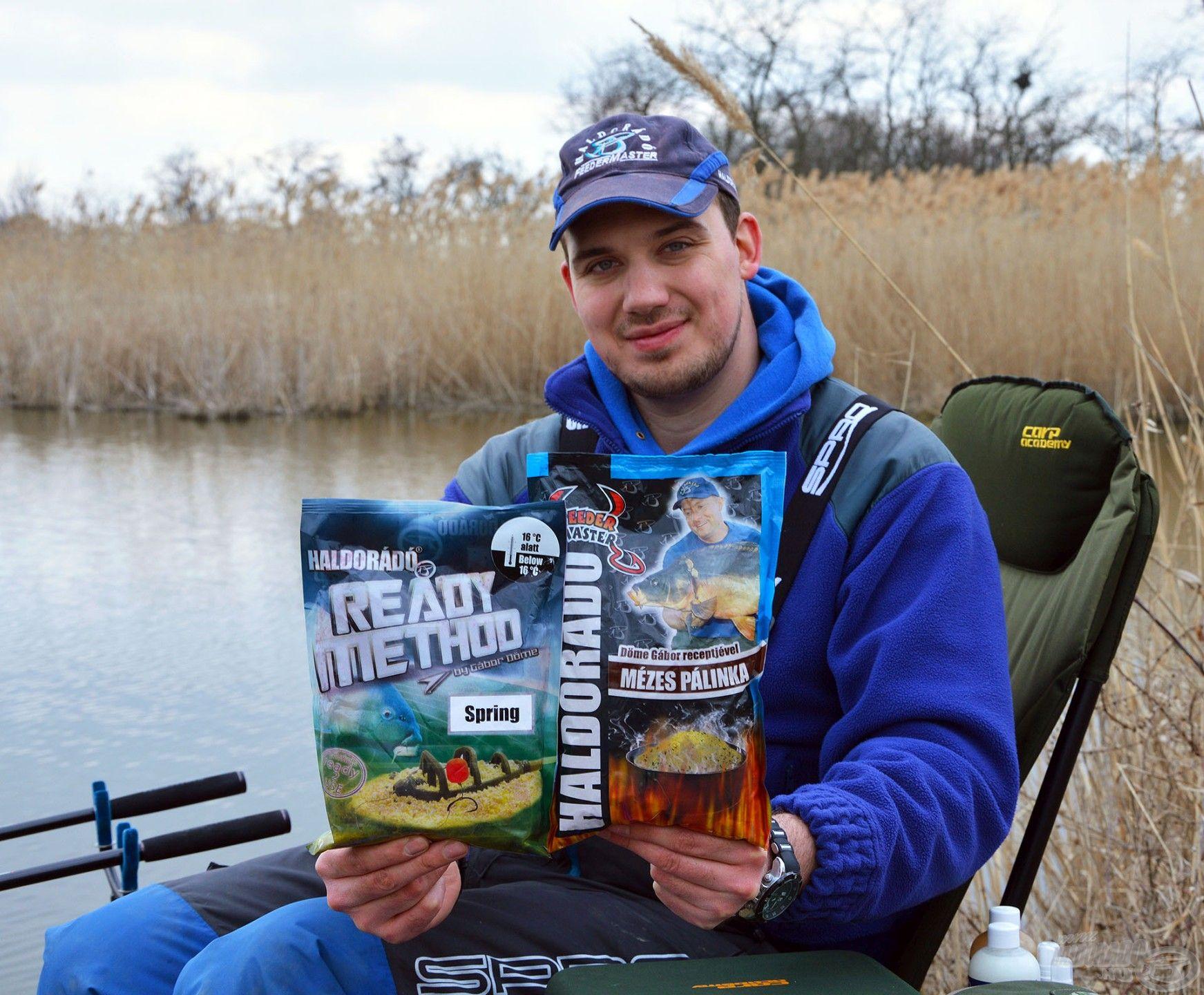 A Ready Method Spring és a Mézes Pálinka etetőanyag édes-gyümölcsös-alkoholos kombinációja a hideg vízi horgászatok favoritja