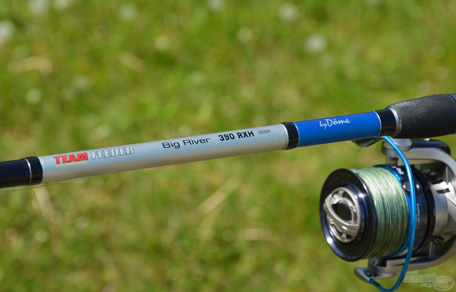 Legerősebb botomat, a By Döme TEAM FEEDER Big River 390RXH típust használom…