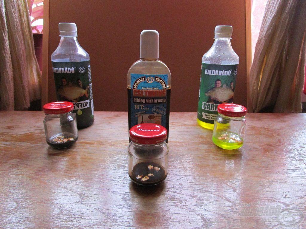 Többféle aromát is használok, de ez a három vált be leginkább
