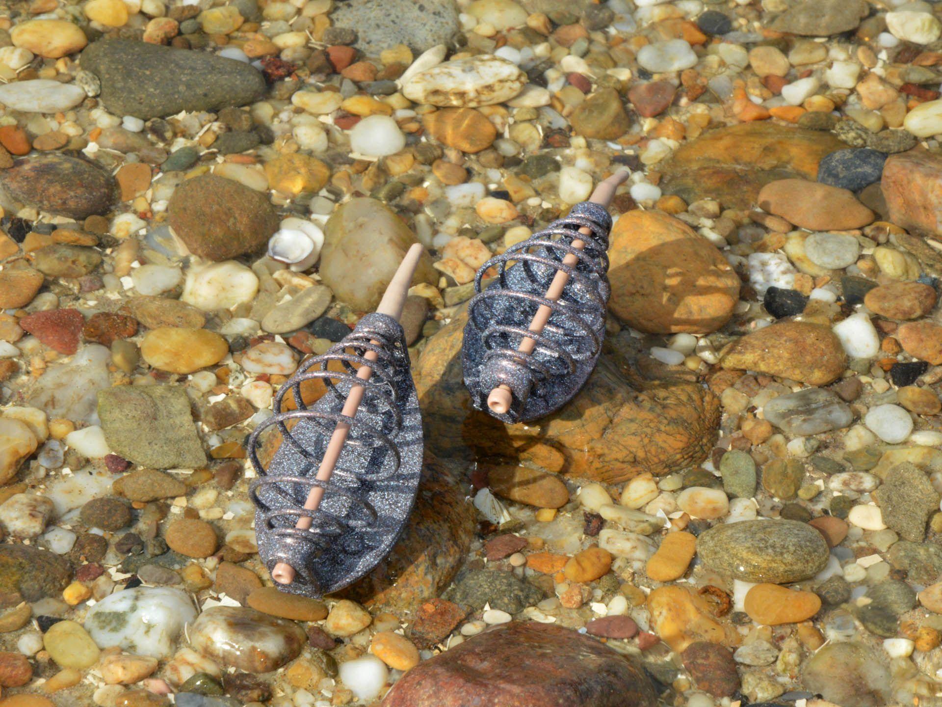 Az 50 és 30 grammos Method River kosarak nem csak tömegükben, hanem méretükben is különböznek