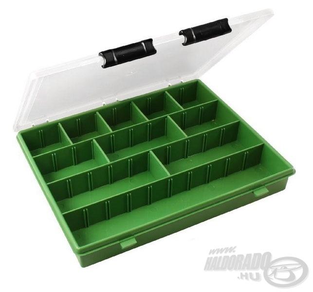 Ebben a dobozban rendezetten tárolhatjuk a műcsalikat
