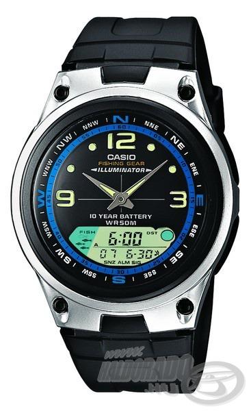 Ezt az órát a Casio kimondottan a horgászoknak tervezte