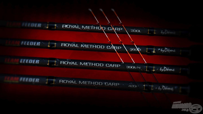 Íme, a teljes By Döme TEAM FEEDER Royal Method Carp sorozat