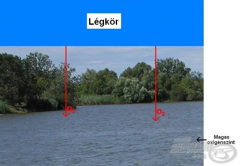 A magas légnyomás növeli a vízben oldott oxigén koncentrációját