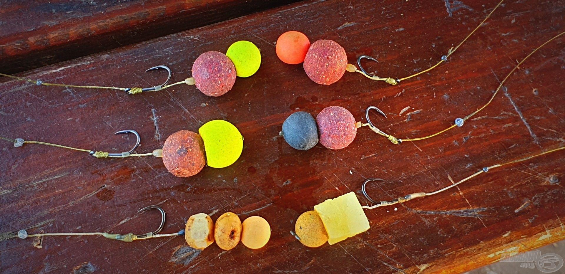 Ezen a horgászaton is jutott szerep a kísérletezésnek, többféle csalikombinációt készítettem elő