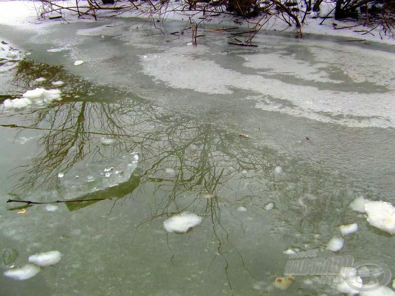 Jégtörés után a vízpart
