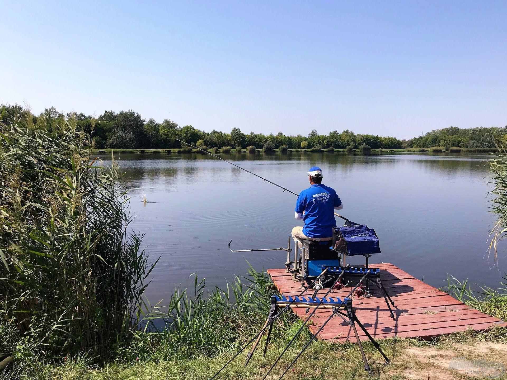 """A """"láb alatti"""" horgászat távolsága mindössze 14-15 méter volt"""