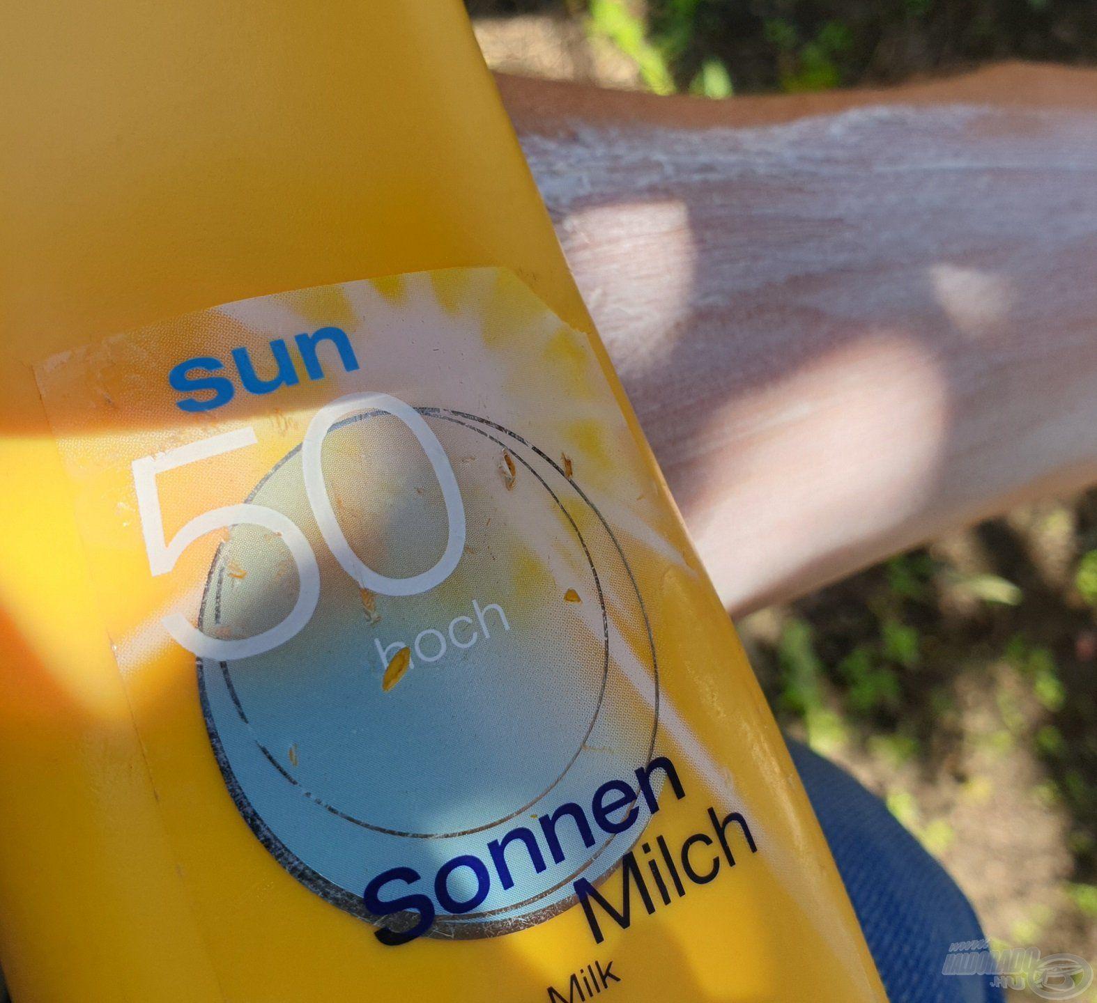 Az erős UV-B sugárzás ellen védekezhetünk naptejjel…