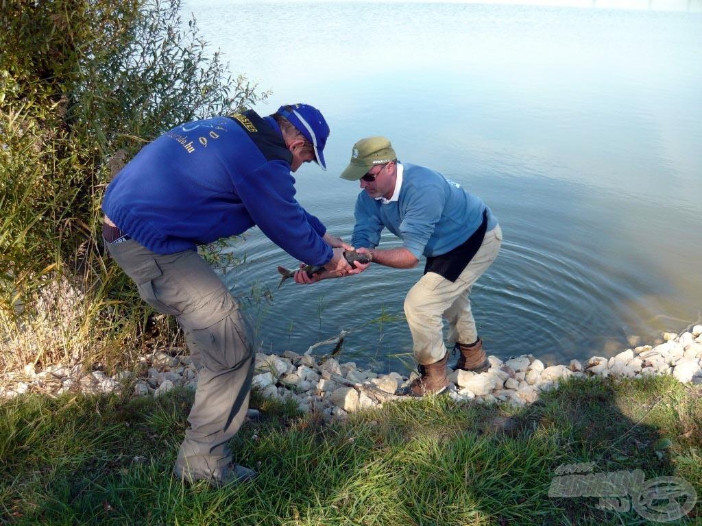 … aminek halai egytől egyig visszakerültek a tóba