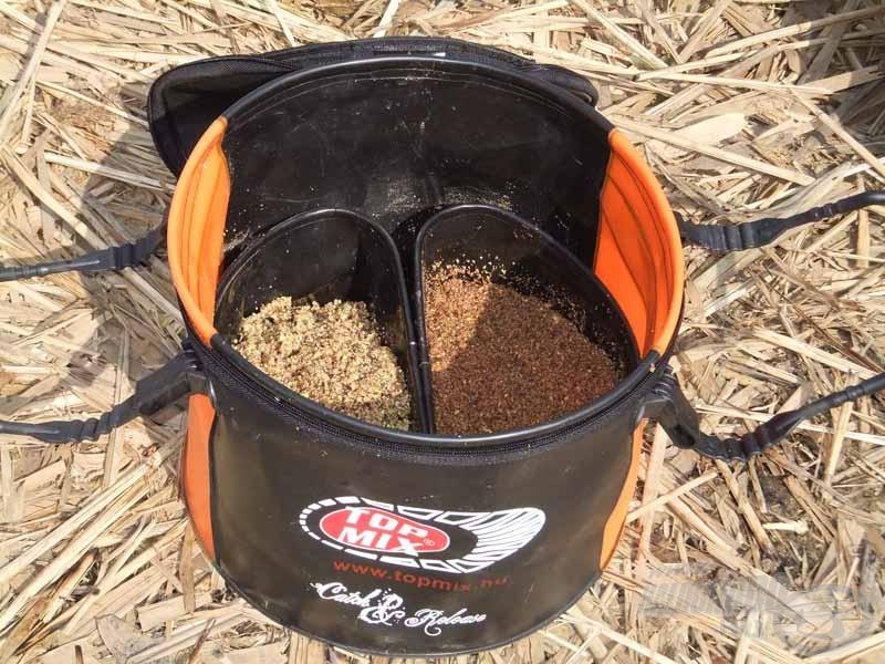 A kétféle etetőanyag külön-külön kiszáradás vagy elázás nélkül tárolható ebben az etetőkeverőben