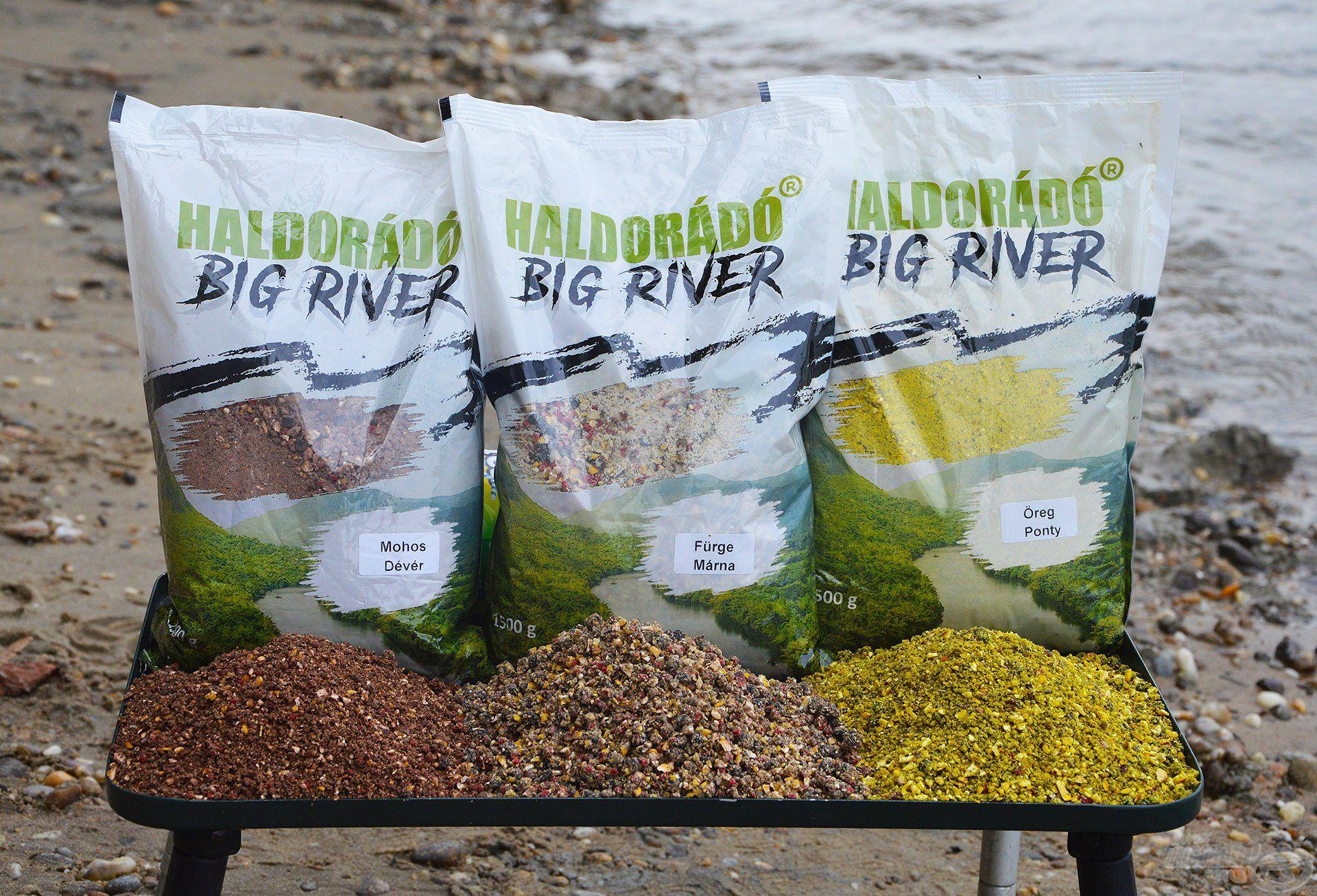 A Haldorádó Big River etetőanyag család három taggal jelent meg ez év őszén a palettán