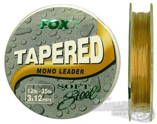 Az egyik legkedveltebb gyári monofil dobóelőke a FOX Tapared Mono Leader. Minden tekercsen 3x12 m található. Átmérője az egyik végén 0,34 mm, míg a másik végén 0,50 mm
