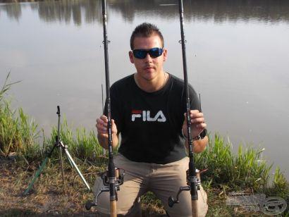 Botavató horgászat a Pintér-hídi horgásztavon