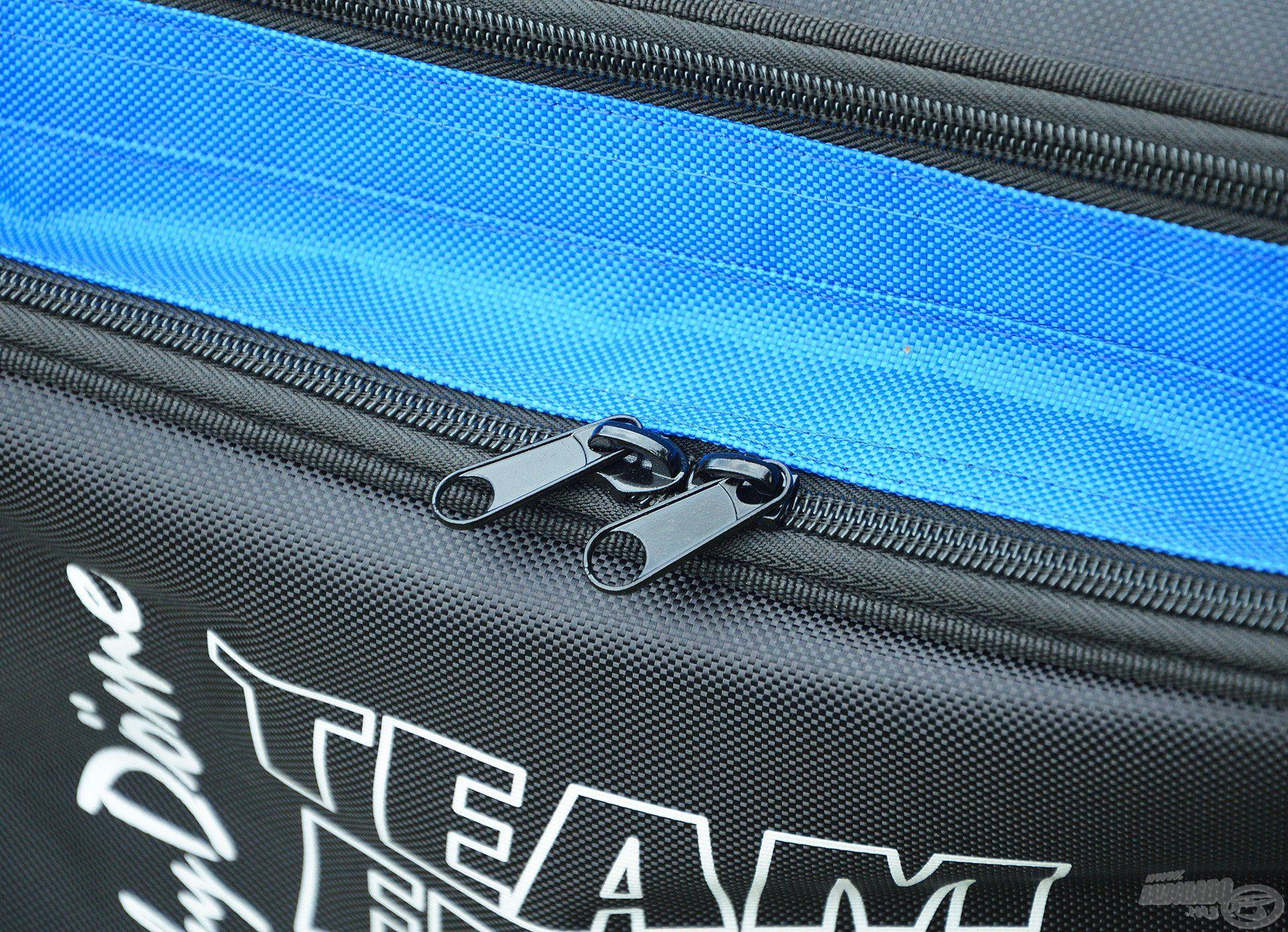 Természetesen a táska erős, minőségi zipzárral készült, ez garantálja a hosszú élettartamát