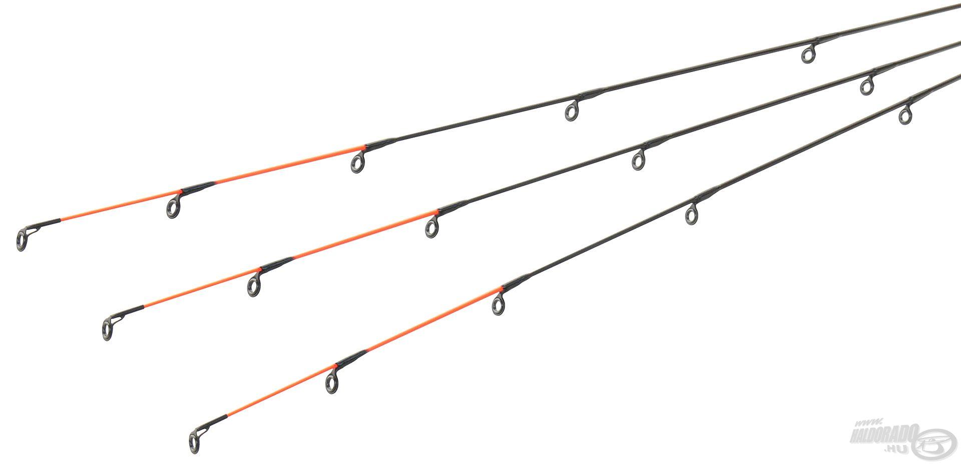 … míg a 360M, 390MH és a 420H botoknál a spiccek spiccgyűrűi támasztottak