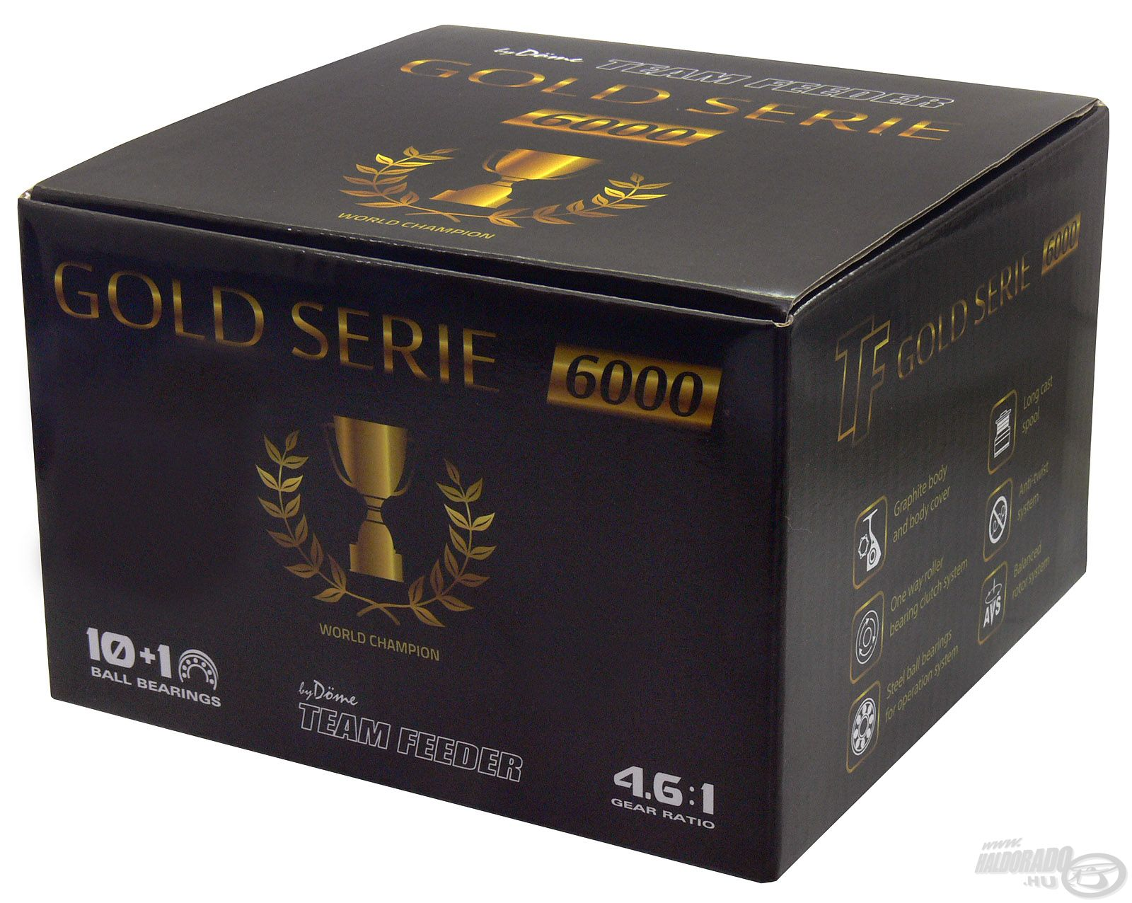 Igényes, elegáns dobozt terveztünk a Gold Serie orsókhoz