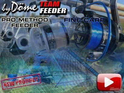 By Döme TEAM FEEDER újdonságok bemutatója, nagyító alatt a Fine Carp + Pro Method feederbotok és orsók