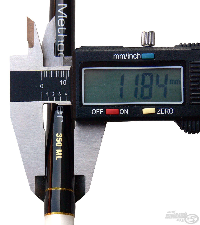 A családra általánosan jellemző a karcsú bottest, így a 350-es Medium-light erősségű bot is igazán kecses megjelenésű