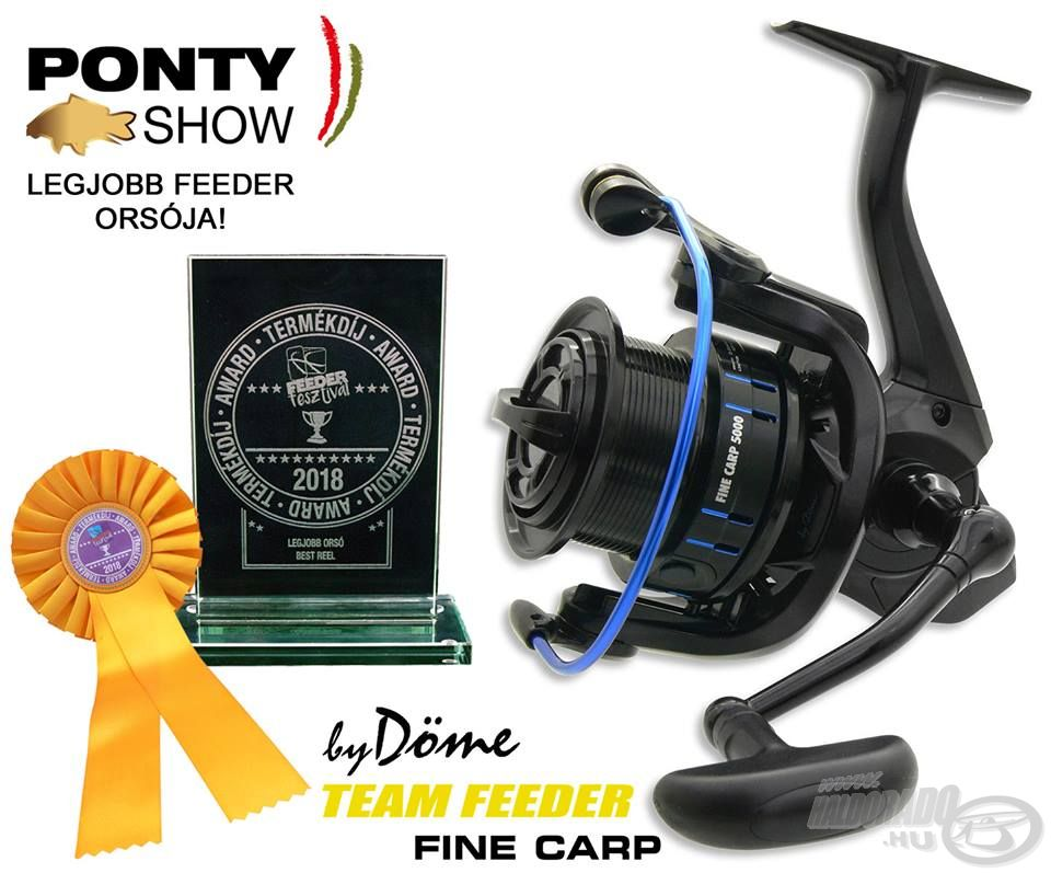 Nagy öröm és büszkeség számunkra, hogy egy szakértő zsűri is értékelte munkánkat, és mindössze két nappal a megjelenése után a 2018-as PontyShow Legjobb Feeder Orsója díjat kapta a Fine Carp!