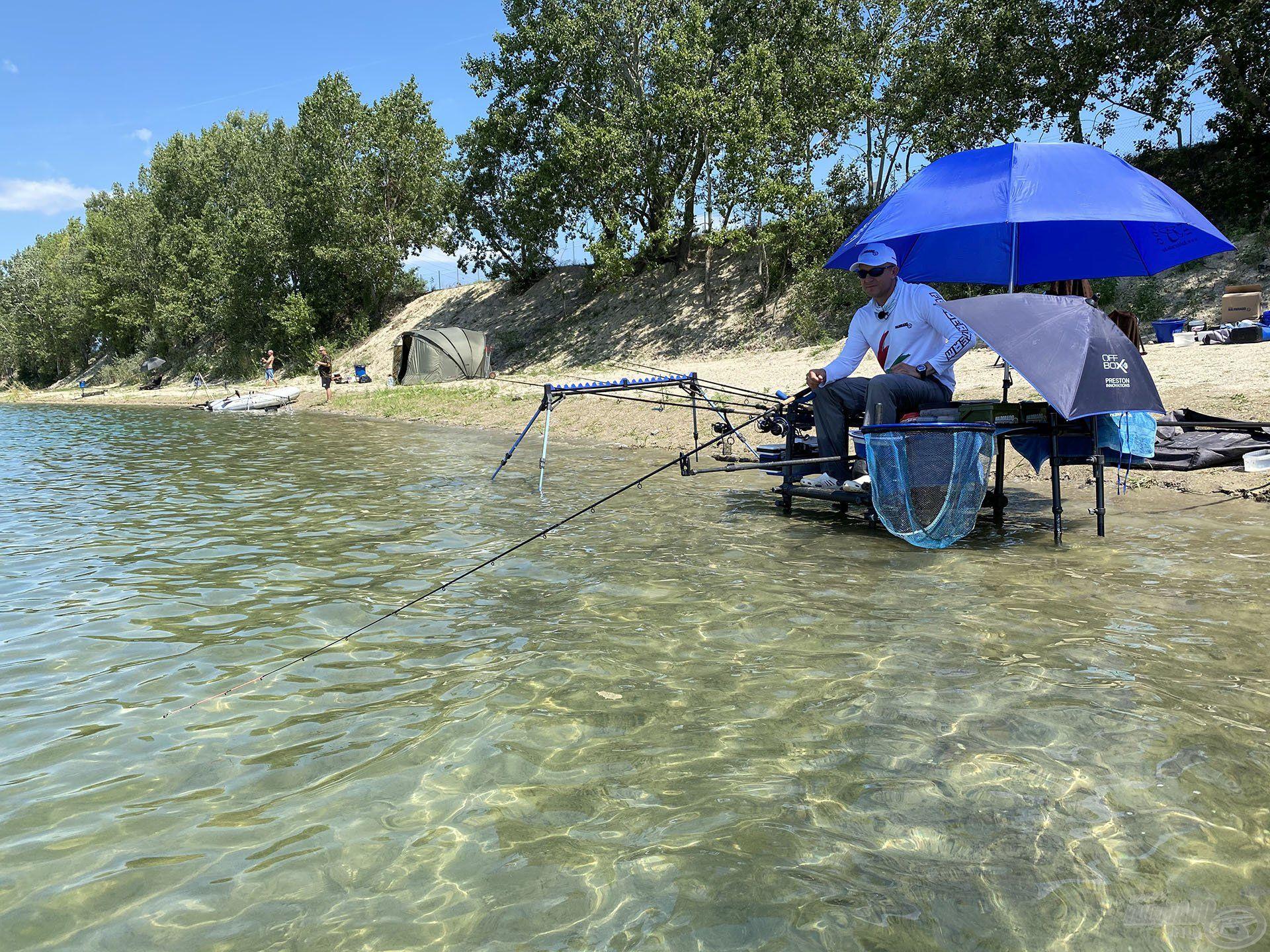 Horgászállásom a kristálytiszta vízben