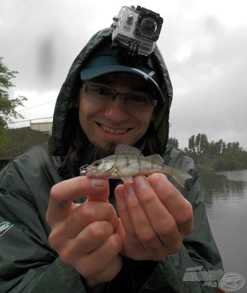 A hal kicsi, de az örömöm nagy
