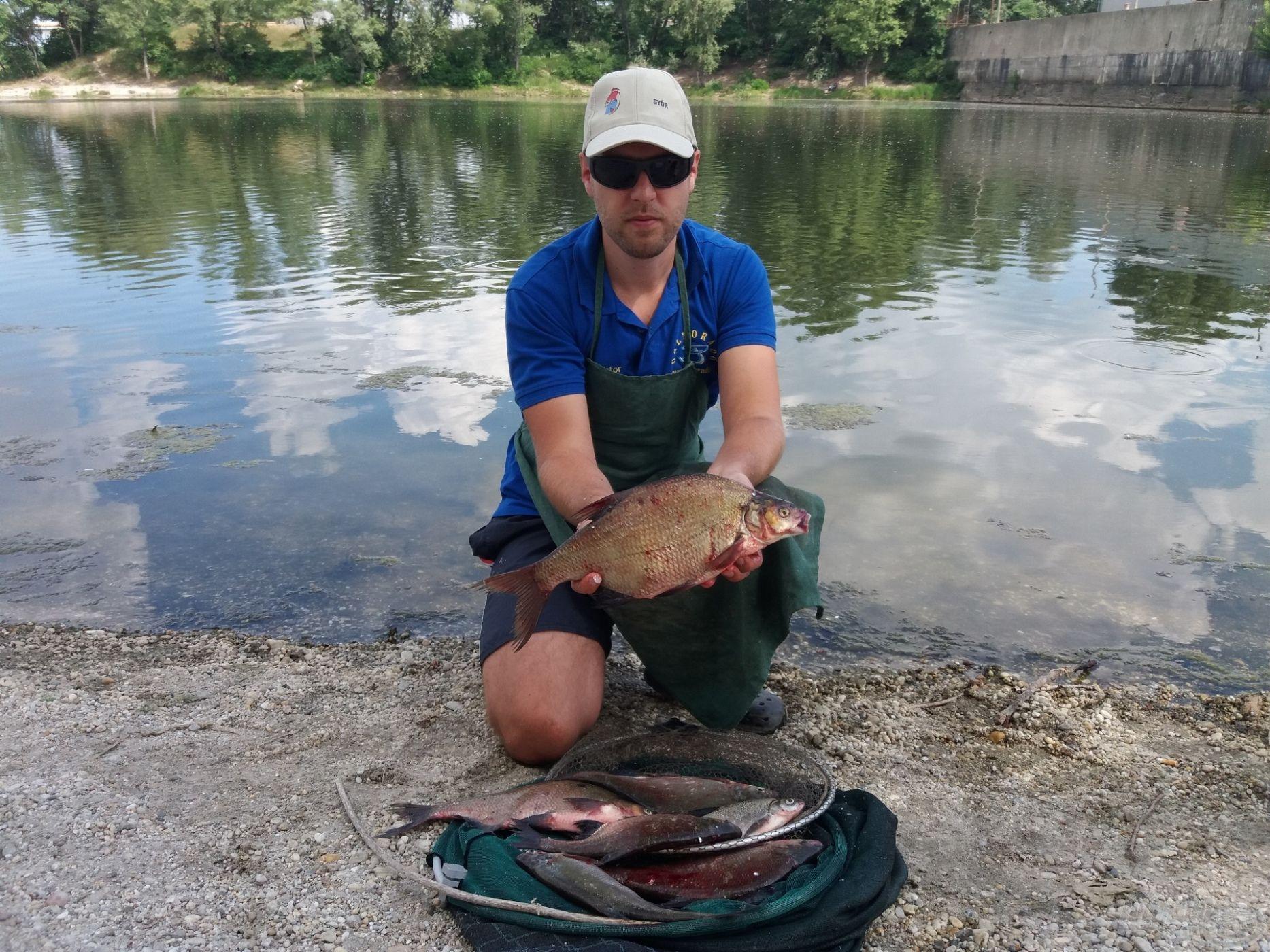 Pár órás horgászat eredménye
