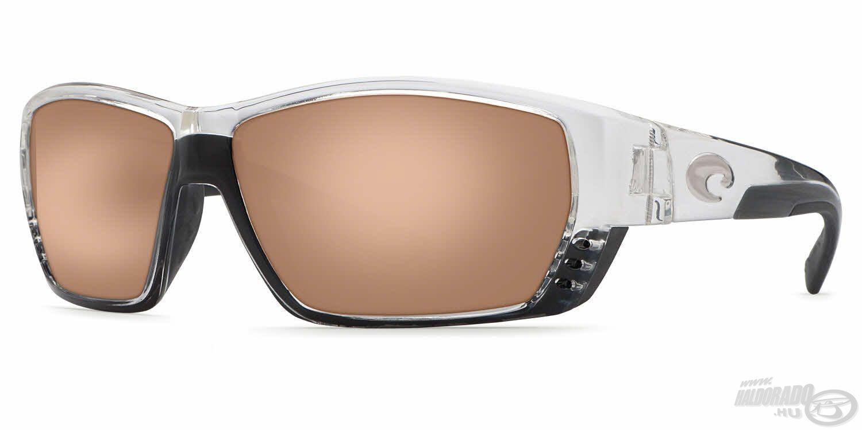 A Tuna Alley szemüvegeket teljesen körbezárt, nagyméretű lencsék és a többi modelltől eltérően picit robosztusabb dizájn jellemzik