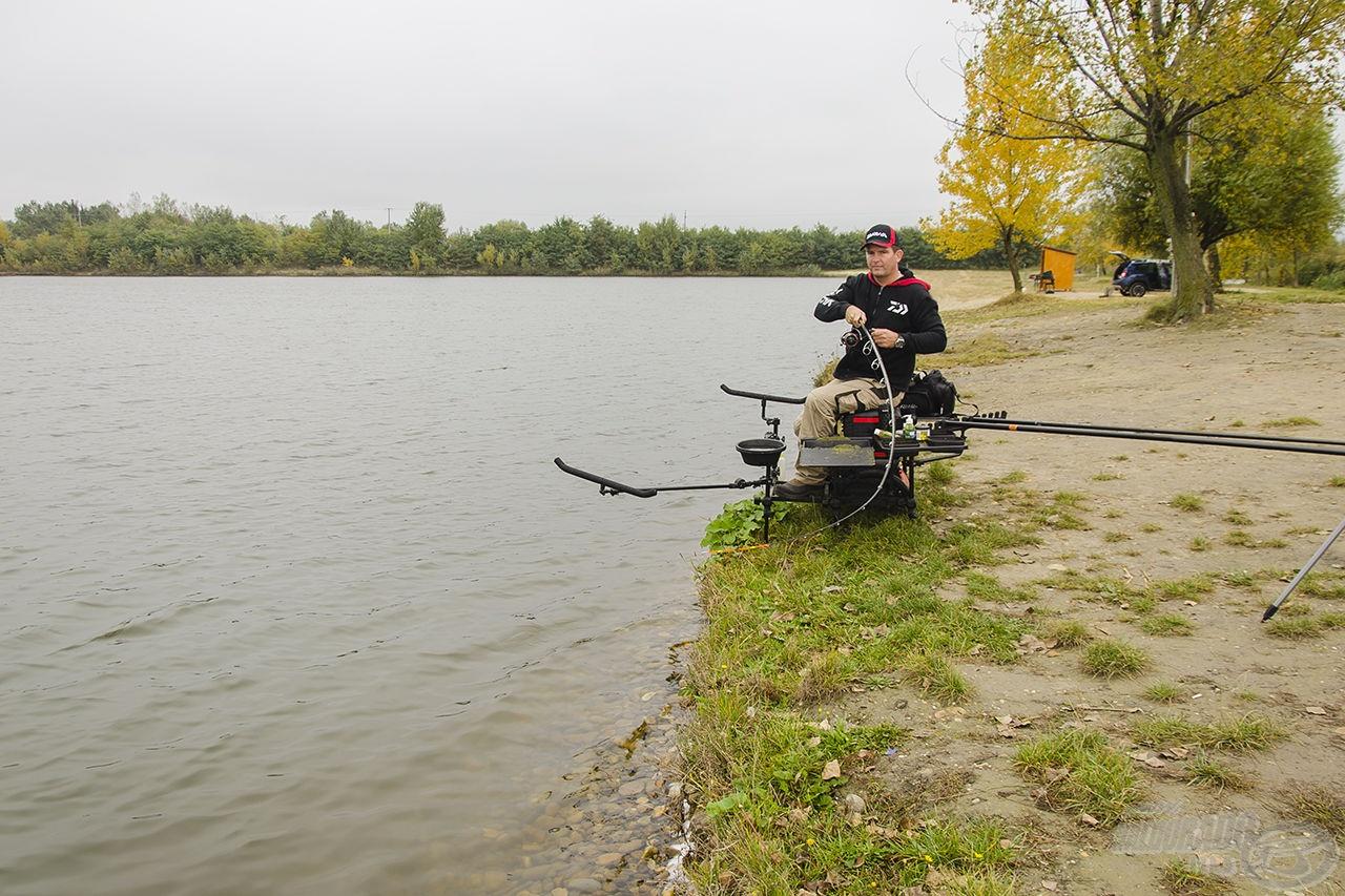 Könnyű felszereléssel ugyan komfortosabb a fárasztás, de egy igazán szilaj ponty még így is megdolgoztatja a horgászt