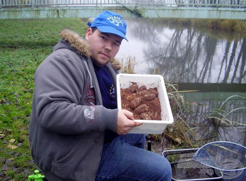 Az alapozásra szánt gombócok