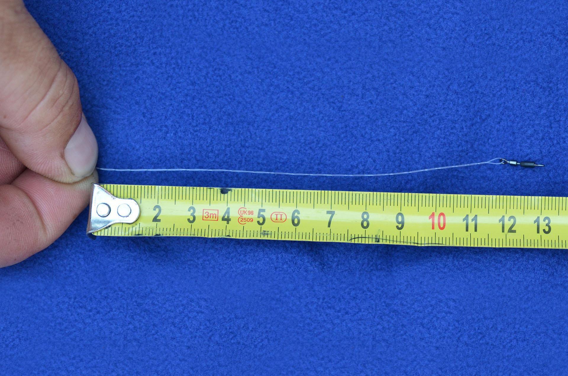Ennek hossza minimum 10, maximum 15 cm legyen. Ennél a végszereléknél ez 13 cm lett