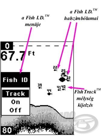A Fish I.D. és a FishTrack üzemmód
