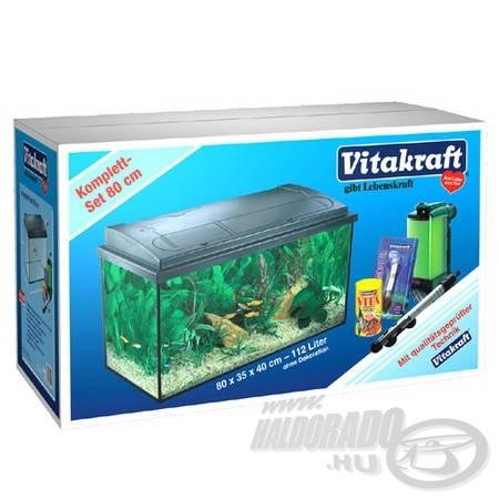 A 112 literes akvárium a legnagyobb a komplett felszerelést tartalmazó szettek közül