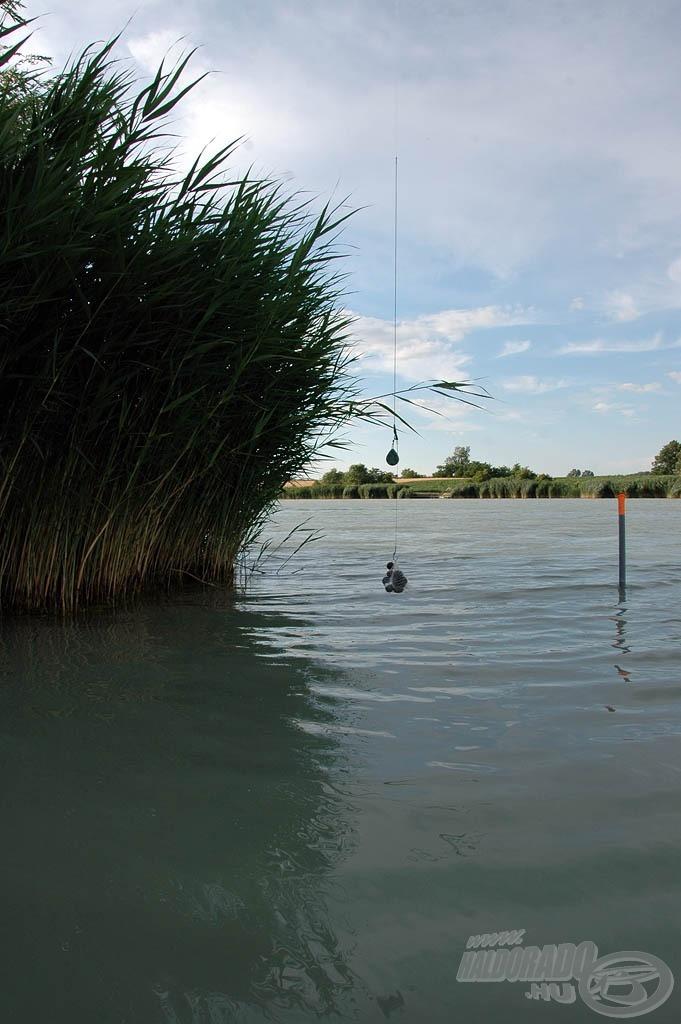 A sziget jobb oldali sarka képezte a horgászhelyünk szélső határát
