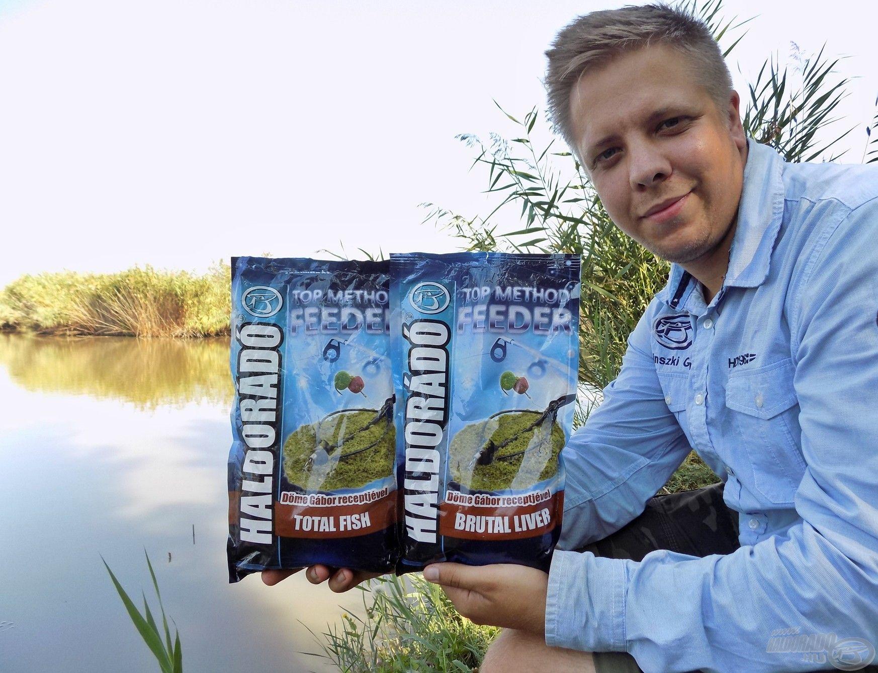 Egyik kedvenc keverékem a Haldorádó Top Method Feeder - Brutal Liver és Total Fish etetőanyagok 50:50 arányú keveréke. Bátran ajánlom az év bármely időszakában, vagy ha nagy nyomás alatt álló vízterületen horgásztok!