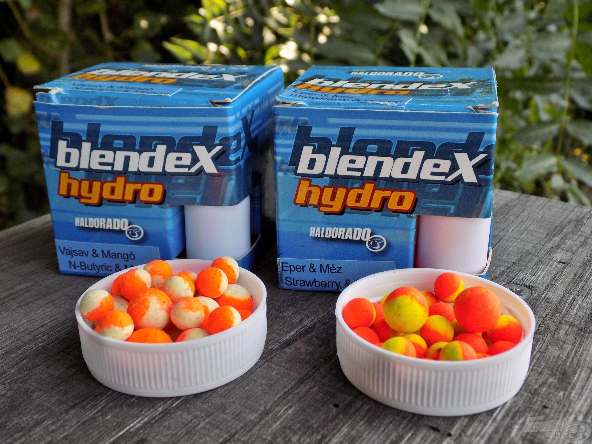 A BlendeX Hydro kikönnyített csalikkal gyorsan elcsábíthatóak voltak a pontyok, a Vajsav-Mangó és Eper-Méz ízvilág egyenes utat mutatott a pontyoknak a horgomhoz