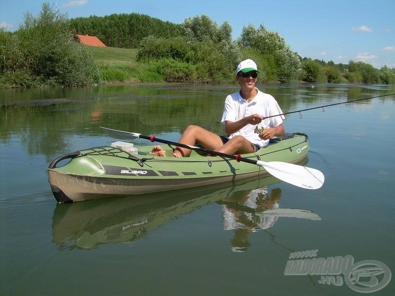 … a mélyebb pályán viszont nagyon kényelmes belőle horgászni