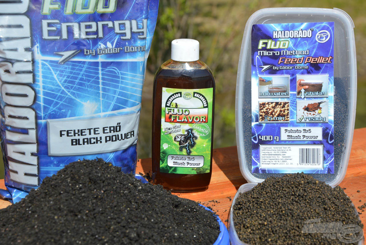 A Haldorádó Fluo Energy - Fekete Erő család a keresőhorgászatok során lehet jó választás