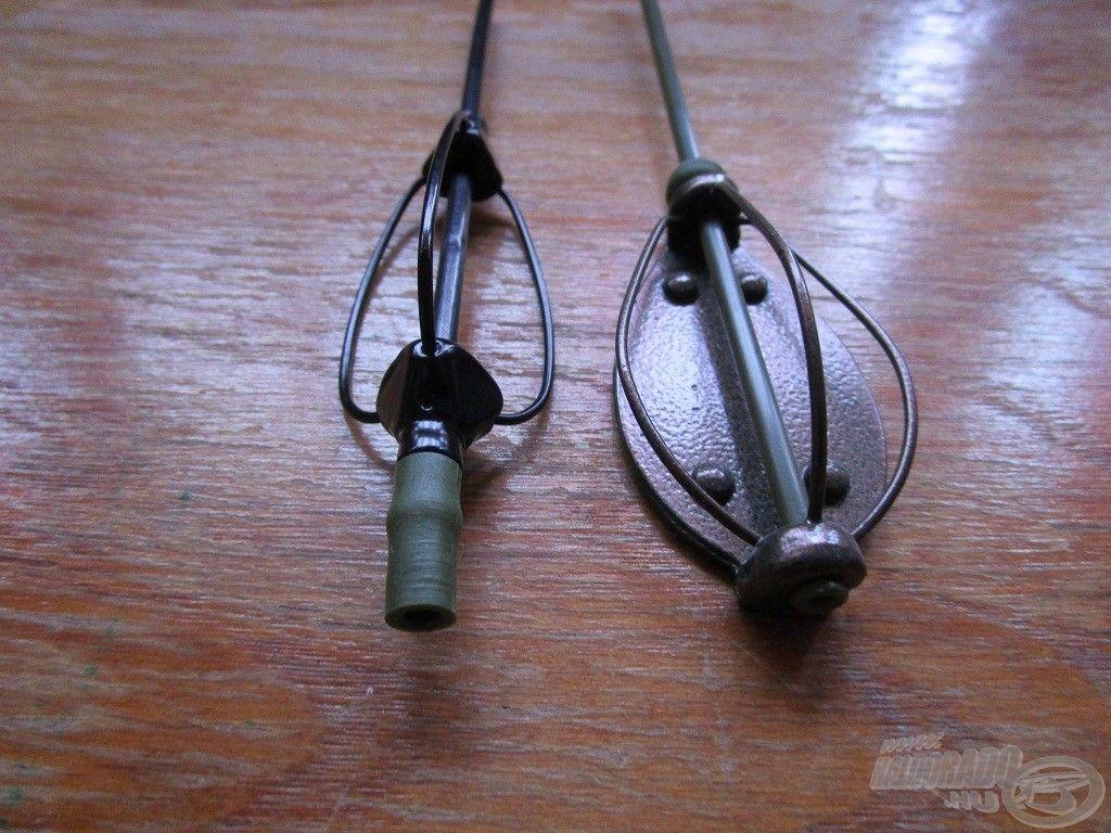 A gumihenger használatával a szerelék fél-fix lesz