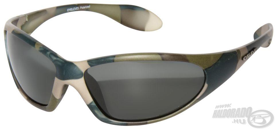 A Camouflage névre keresztelt, terepszínű kerettel ellátott napszemüveg készül szürke…