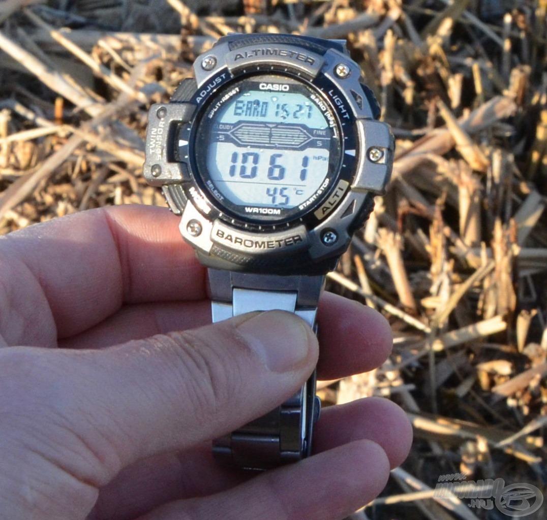 Délutánra a víz hőmérséklete 1 fokot melegedve már elérte a 4,5 Celsius-fokot