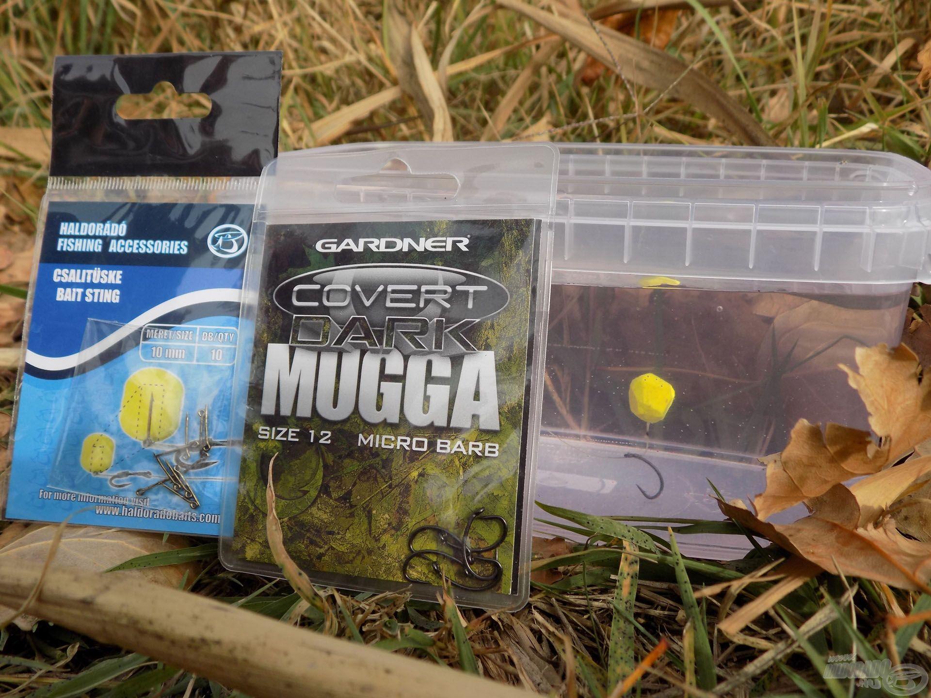 Faragott, közepes méretű csalikhoz a Gardner Mugga horog 10 mm-es csalitüskével felvértezve az ideális választás. Apropó faragott csalik: szinte nélkülözhetetlenek hideg vízi horgászataim során. Az oldódó-lebegő csalik működését rendszerint faragással teszem még gyorsabbá. A hatás döbbenetes!