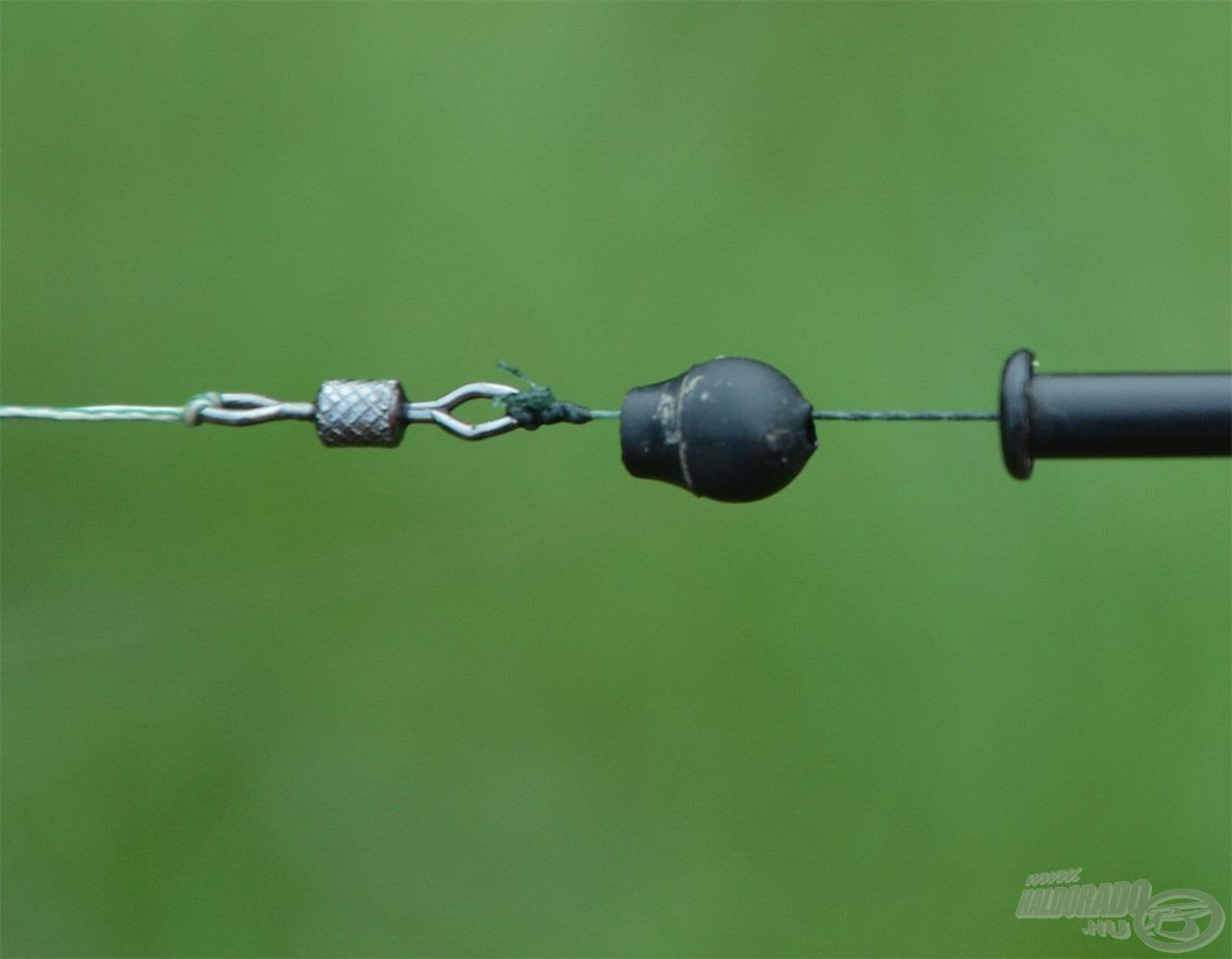 Gyakran használom a Korum gyorskapocs gyöngyöt, de a nagy lendítőerőt nehezen viseli a belső rögzítő kapocs
