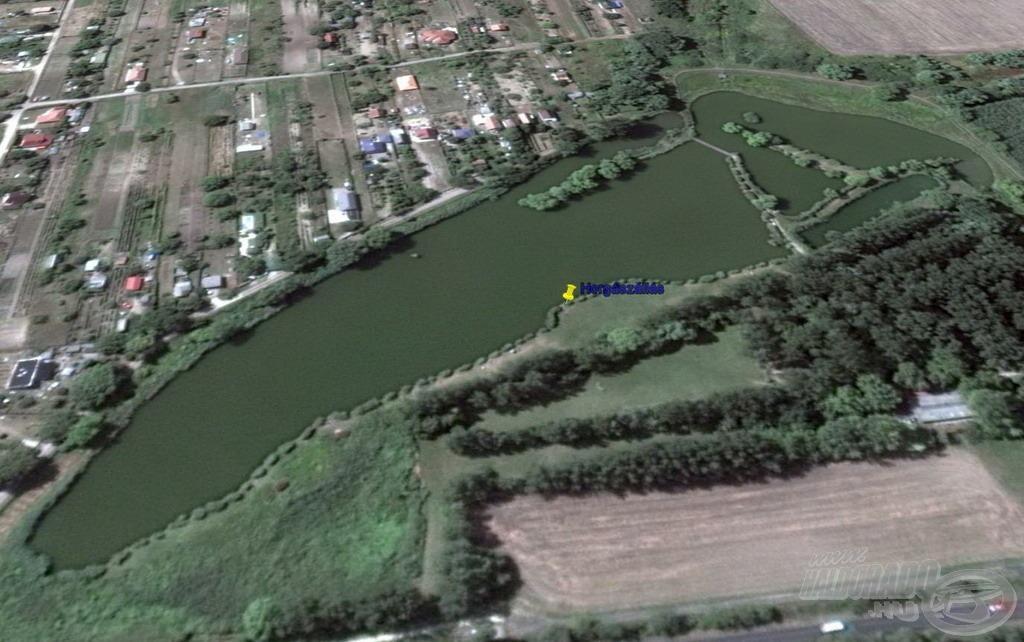 Horgászhelyem a tó dél partszakaszára esett